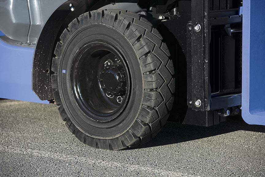 Three new forklift tires for lowest operating cost solution