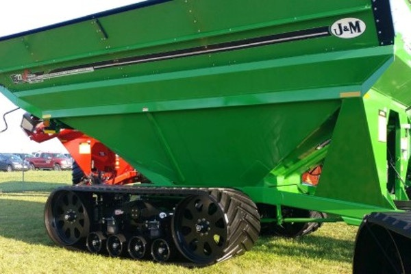 J&M new grain cart of Camso tracks