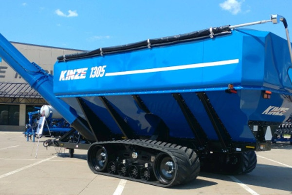 Kinze grain carts on Camso tracks