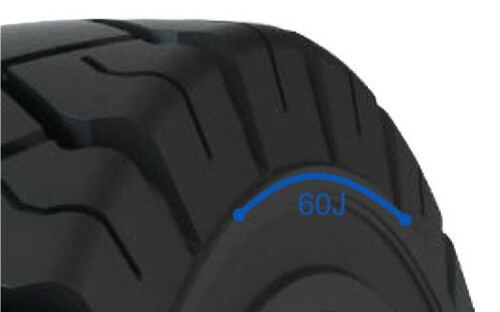 Solideal 60J line on tire