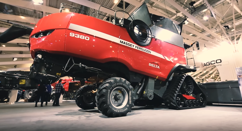 Camso talks tracked Combines with Massey Ferguson at Agritechnica 2015