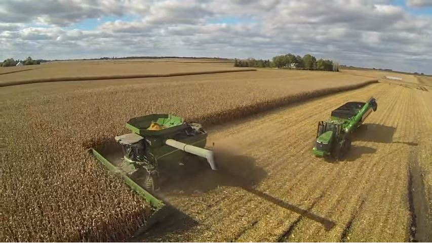 John Deere tractor, Planter and Combine on Camoplast tracks and track systems