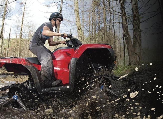 Camso Produits recreatifs systeme chenilles VTT conducteur foret boue 5 astuces Entete